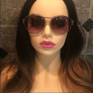 JUICY COUTURE 💕 Aviator Sunglasses Pink & Gold